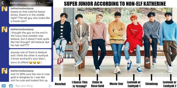 Super Junior According to Non-ELF Katherine